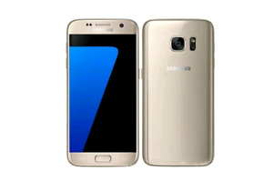 Galaxy S7 32GB Gold Factory Unlocked works perfectly except bac