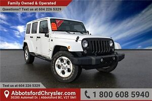 2014 Jeep Wrangler Unlimited Sahara Locally Owned!