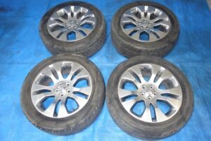 "JDM Subaru OEM Original Rims & Tires 5x100 17"" Japan"