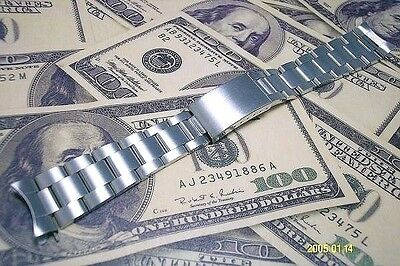 Solid Stainless steel strap band bracelet (fits) Rolex OYSTER 19mm screw links