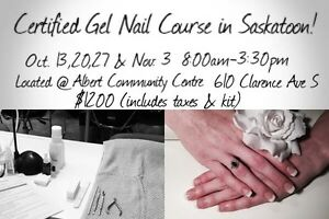 Certified Gel Nail Course in Saskatoon!