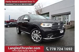 2016 Dodge Durango Citadel W/ PARKING SENSORS, PADDLE SHIFTER...