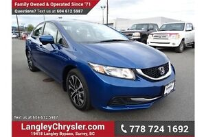 2015 Honda Civic EX w/Sunroof & Heated Seats