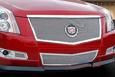 2008-2013 Cadillac CTS 2pc Classic Fine Mesh Grille Stainless - E&G 1007-0102-08