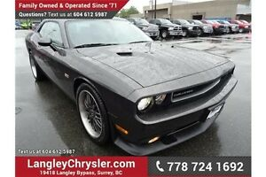 2014 Dodge Challenger SRT w/ Leather/Suede Interior & Navigation
