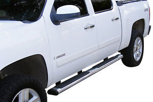 Side Steps - 4.5 Inch Stainless - 04-13 Chev/GMC - Crew Cab