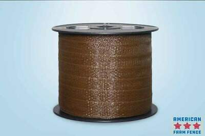 1.5 Brown Electric Polytape Fence
