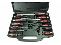 US PRO 12PC GO THROUGH SCREWDRIVER SET
