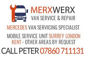 Mobile sprinter van servicing, repair, maintenance expert. We come to you 15 miles radius of Croydon
