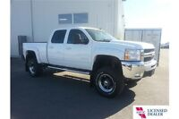 Used 2010 Chev 2500 Diesel Crew, Lifted, Nav, Leather, Low KM!
