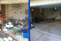 We haul trash JUNK removal away & garage/basement/home cleaning