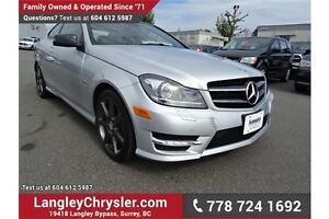 2012 Mercedes-Benz C-Class w/Navigation, Leather Int. & Sunroof