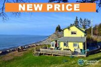 NEW PRICE! Turner Brook Ocean Front. Great Vacation Home.