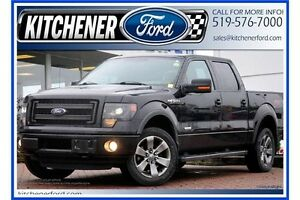 2013 Ford F-150 FX4/V6/LEATHER/HTD SEATS/TOW PKG/SUNROOF/NAVI