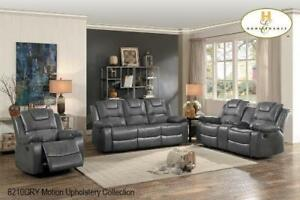 Grey leather  Recliner Set on Reduced Price (BD-2400)