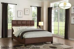 Brown Platfrom Queen  Bed on Sale (BD-2381)