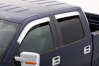 AVS 02-08 Dodge RAM 1500 Quad Cab Ventvisor Front & Rear Window Deflectors 4pc