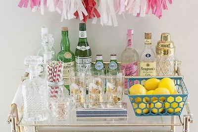 Bar Cart Styling and Photo by Dream Green DIY Blog