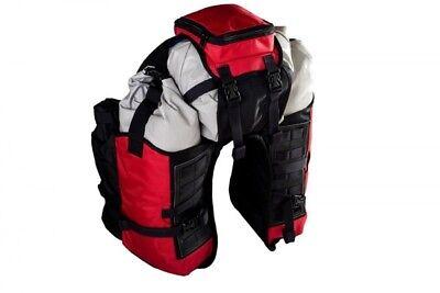 Bolsa trasera impermeable para motos enduro y motos trail color rojo /...