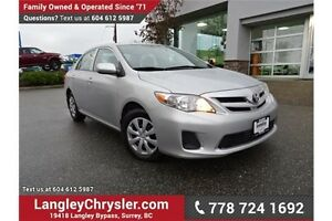 2013 Toyota Corolla CE W/ SUNROOF & HEATED SEATS