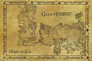 Game Of Thrones VINTAGE Map POSTER