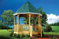 FREE GAZEBO PLAN WITH HOUSE PLAN ORDER !