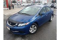 2013 HONDA CIVIC LX HONDA CERTIFIED - AUTOMATIC - CLOTH INTERIOR