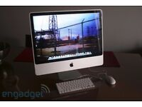 "20"" IMAC INTEL CORE 2 DUAL WITH APPLE KEYBOARD AND MOUSE"