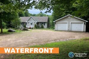 Waterfront with Rental Potential on 1.36 ac, 5 bdrm/2 bath