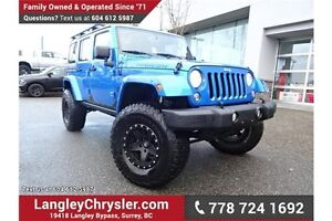 2016 Jeep Wrangler Unlimited Rubicon LOCALLY DRIVEN, ONE OWNE...