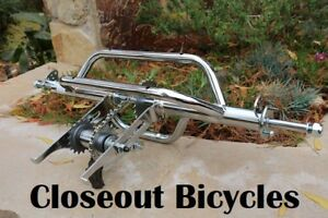 HOLLOW HUB TRICYCLE CONVERSION / TRIKE KIT CHROME LOWRIDER,CHOPPERS AND CRUISERS