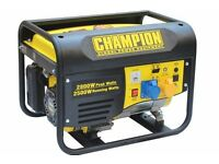 NEW CHAMPION 2800 WATT GENERATORS,USA DESIGNED AND ENGINEERED, BALLYNAHINCH.