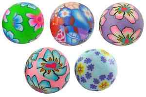 50 x POLYMER FIMO CLAY ROUND 8MM MIXED FLOWER BEADS