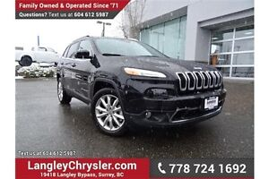 2016 Jeep Cherokee Limited ACCIDENT FREE w/ LEATHER & HEATED...