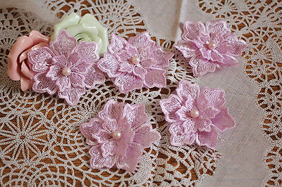 Perlen Kostüm Spitze Applikation Rand 3D Blumen Abend Brautkleid DIY Bügelbild (D Bügel Kostüm)