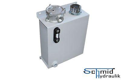 Hydrauliktank 15 Liter Hydrauliköltank schmale Form Ölfass