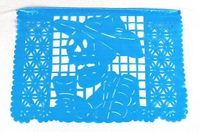 Set of three (3) Day Of The Dead Mexican papel picado banner bunting plastic