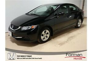 2014 Honda Civic LX - Honda Certified | LOW KMs | Nice!