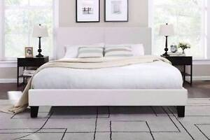 6 x brand new black color queen size leather bed + used mattress, Box Hill North Whitehorse Area Preview