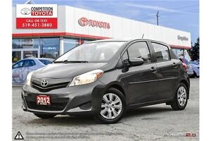 2012 Toyota Yaris LE One Owner, No Accidents, Toyota Serviced