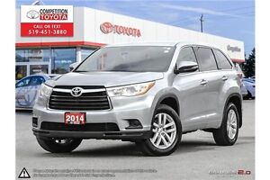2014 Toyota Highlander LE Toyota Certified, One Owner, Toyota...