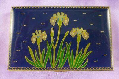Vintage Business Card Holder 60s Cala Lily Flower Design Lilies