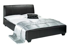 5FT KINGSIZE LEATHER BED WITH 100% 12INCH CROWN FULL ORTHOPEDIC MATTRESS -SAME DAY- SINGLE/DOUBLE