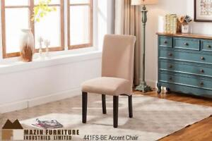 Beige Roll Back Accent Chair (MA428)