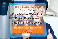Repair/Install - Hot Water Tank, Heating Furnace & more