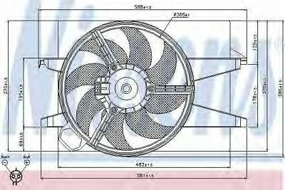 New Fan radiator for FORD-MAZDA 85032 Nissens Top Quality