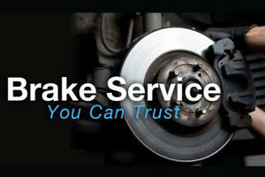 Brake service package 149.95 parts and labour