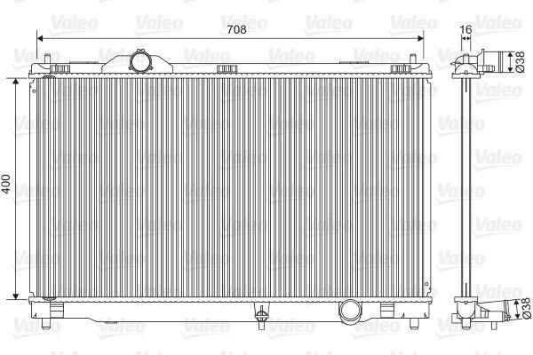 Engine Cooling Radiator VALEO Fits LEXUS Gs Saloon 3.0-3.5L 2005-2011