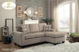 Light Brown Fabric Sectional on Sale -  Furniture Sale (BD-2399)