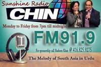 Listen to FM91.9 urdu radio across GTA 7pm to 12am